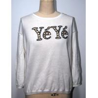 Best Ladies Floral Print Sweater , Combed Cotton 2/32s 14gg with Letters Embroidery wholesale