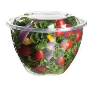 China 16oz 24oz 32oz 48oz PET Disposable Salad Bowls , Eco Friendly Round bowl on sale