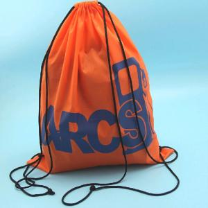 China Waterproof Drawstring Polyester Shoe Packaging Bags on sale
