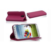 Extra Slim Cell Phone Leather Case with Sleep Function , Samsung Galaxy S4 i9500 PU Stand Case