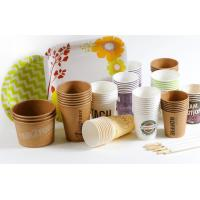 China Disposable white paper coffee cups plain white paper coffee cups on sale