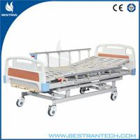 China Hand Crank Manual Hospital Beds Medical With 4 - Part Bedboard , 3 Functions on sale