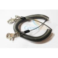 Best Heavy Duty Coil Tool Lanyard , High Security Coiled Security Tethers Load 15KG wholesale