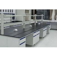 Best Steel And Wood Chemistry Lab Bench Furniture 12.7mm Black Phenolic Resin Top wholesale