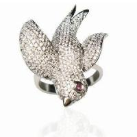 Cheap Sterling Silver Animal Jewelry Ring (SZR008) for sale