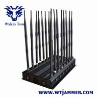 Buy cheap Mobile phone Jammer 18 bands Powerful 3G 4G Blocker WiFi UHF VHF GPS L1/L2/L5 from wholesalers