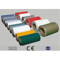 China 3 - 15ton Prepainted Steel Coil , PPGL Color Coated Galvanized Corrugated Sheet on sale