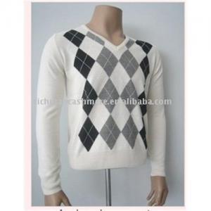 China argyle cashmere sweater on sale