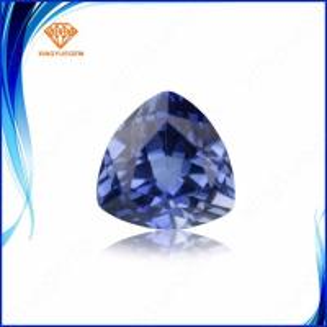 China Trillion shape #34 blue diamonds loose 8*10mm lab created corundum sapphire gems on sale