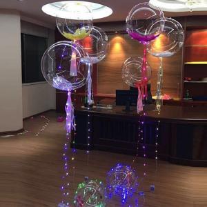 China Hot sell party decoration bobo balloon light halloween wedding led light up balloons on sale