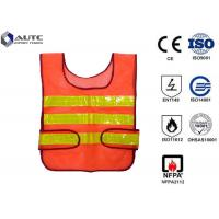 Buy cheap Glistening Safety Reflective Jacket , Security Safety Vest Warning Loop Closed from wholesalers