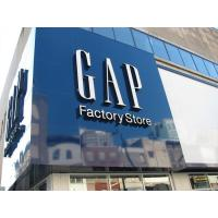 China Shopping Mall 3D Letter Signs Acrylic Front-panel For Gap on sale