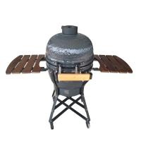 China Outdoor Kamado Barbecue Grill , Adjustable Height Egg Shaped Grill on sale