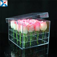 Best Durable Square Acrylic Flower Box Makeup Organizer Rose Storage Cosmetic Case wholesale
