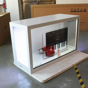 China Horizontal Transparent Digital Display , White Transparent LCD Showcase on sale
