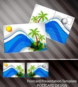 Best Souvenir scenery lenticular 3D printing postcard 3D flip picture post card price wholesale