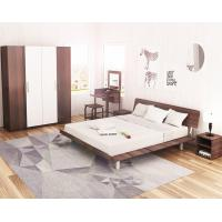 Best Simple Japanese tatami type bed 1.5 meters MDF with metal double bed and 1.8 single bed 1.2 modern creative walnut color wholesale