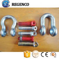 Cheap Galvanized Screw Pin US Type Steel Drop Forged D Shackle for sale