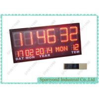 China Temperature and Date with Led Digital Clock Display , Ultra Bright red LED on sale