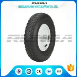 Blocky Patterns Pneumatic Rubber Wheels 2PR ,  Hand Trolley Wheels8
