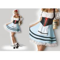 China Oktoberfest Girl 1039  Halloween Adult Costumes Cosplay Dress Clubwear With Scarf on sale