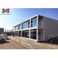 Best Water Proofing Living Container House , Glass Curtain Homes Made From Containers wholesale