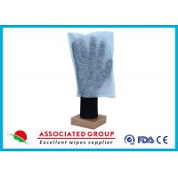 Best 100% Polyester Paper Park Dry Body Cleaning Gloves 35GSM Square Shape wholesale