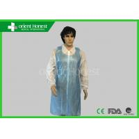 Best Waterproof PE Plastic Disposable Aprons Blue Color For Hospital wholesale