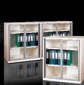 Best Glazed Sliding Door Filing Cabinet (Slender, With Super Slim Design) wholesale