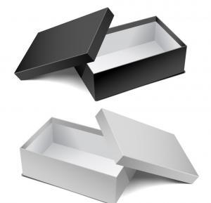 China Shopping Mall Shoes Packaging Printed Corrugated Cardboard Box / Rectangular Cardboard Box on sale