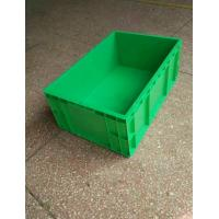 Best Virgin Polyethylene Green Stackable Plastic Storage Containers 600*400*230mm Standard Size Conveyor And Sorting System wholesale