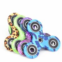 Buy cheap New EDC Tri-Spinner Fidget Spinner Toys Camouflage Pattern Hand Spinner Plastic ADHD Adults Children Education product
