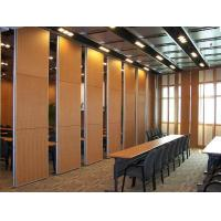 Best Multi Color Wood Sound Proof Partitions with Aluminium Profile / Sliding Room Dividers wholesale