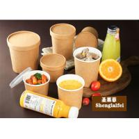 China Eco-friendly 100% biodegradable paper soup bowl Take Away Food Tableware Paper Salad Bowl on sale