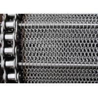 Best Stainless Balanced Weave Wire Mesh Conveyor Belt With Chain , 10 - 30m / Roll wholesale