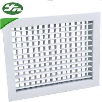 China Architectural Metal Return Air Grille Double Deflection For Ventilation System on sale