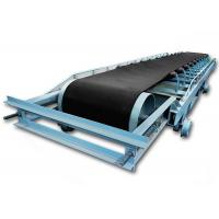 China Movable Reciprocating  Troughed Belt Conveyor Equipment With Walking Wheel on sale