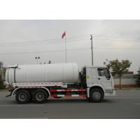 19CBM LHD 336HP Sewer Vacuum Truck 6×4 For Oil Chemical Sewage Tank Sediment Suction