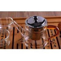 Best Pyrex Microwave Heating Glass Tableware Teapots with Stainless Steel Infuser & Lid wholesale