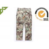 Best Multicam Camouflage Army Combat Pants , Military Men's Tactical Cargo Pants Slim Fit wholesale