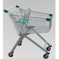 Best Metal Luggage Shopping Trolley With Wheels , Supermarket Unfolding Cart 80L wholesale