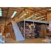 China Industrial Mezzanine Steel Structure Loading Capacity 300-1000 Kg/Sqm Galvanized Optional on sale