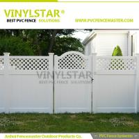 China PVC garden fence with lattice accent top on sale