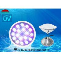 Best DC 12V 24W IP68 LED Pool Light Stainless Steel 5 Wires RGB DMX Control wholesale