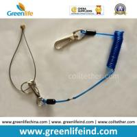 Best Spring String Wire Coiled Tool Lnayard Rope String Blue wholesale