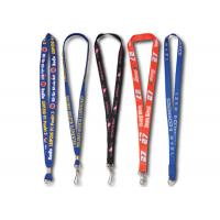 Best Silk Screen Printing Promotional Lanyards For ID Card, Mobile Photo, Work Card With Metal Clip wholesale