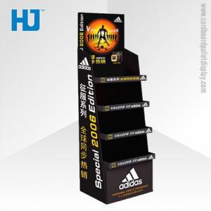 China Perfume 4 Shelf Custom Cardboard Display Stand Unit For Superstore on sale