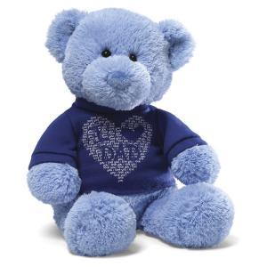 Best Promtional gift stuffed teddy bear oem teddy bear with blue T-shirt wholesale