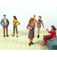 Best 7CM Scale Model Painted People Figures for Building, Shopping Mall Layout Using P25-6 wholesale