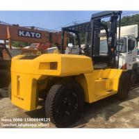 Best used diesel 2012 model 15ton komatsu forklift truck FD150E-7  low work hrs widely used in ports and factory wholesale